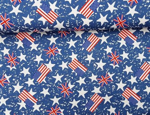 Denim / Spijkerstof Stars and Stripes USA