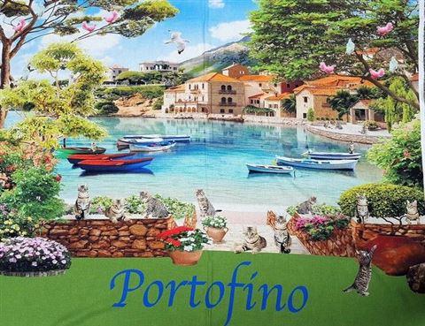 Paneel met afbeelding portofino itali - Deco kamer vult ...