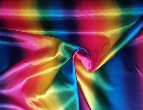 Satijn kleuren van de regenboog