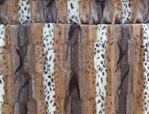 Animal Skin Cheeta Bruin  Imitatie bond