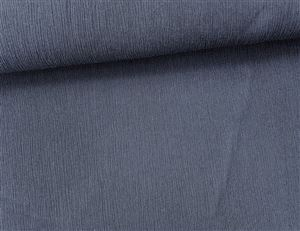 Crincle Denim Donker blauw Stretch