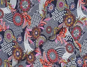 Paisley tricot damesstof oosterse design stoffen